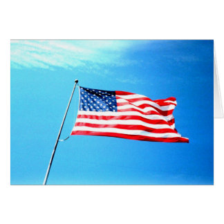 Greeting Card: American Flag