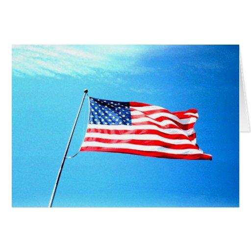 Greeting Card: American Flag