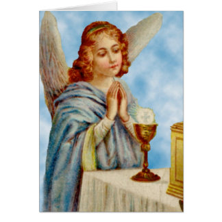Greeting Card: Angel Ponders Card