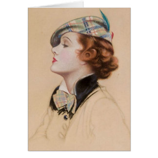 Greeting Card - Beautiful Scottish Celtic Lassie