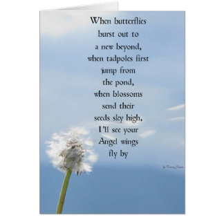 Greeting Card Bereavement verse
