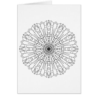 Greeting card, black and white, southwestern nativ card