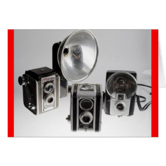 Greeting card, blank, with Antique cameras Card