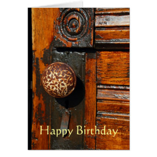 Greeting card, blank, with Antique Door Card