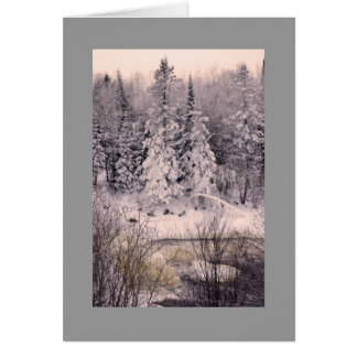 Greeting card, blank, with Snow Scene Card