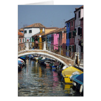 Greeting Card:  Burano Bridge Card