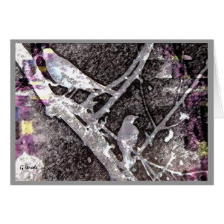 Greeting Card-Early Spring Robins in Tree Card