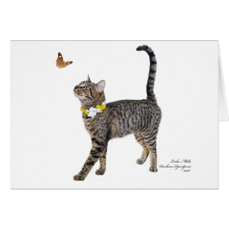 Greeting Card Featuring Tabatha, the Tabby