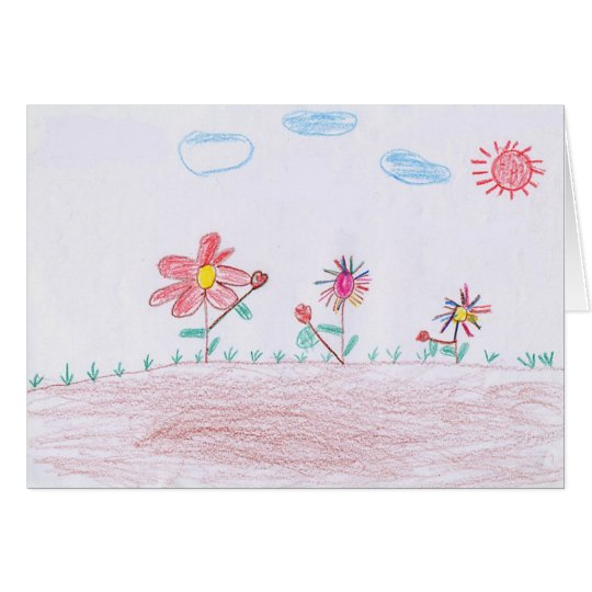"GREETING CARD: ""Flowers"" by Duong Chi Phi Card"