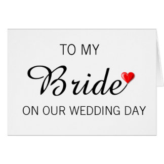 Greeting Card for Bride on Wedding Day
