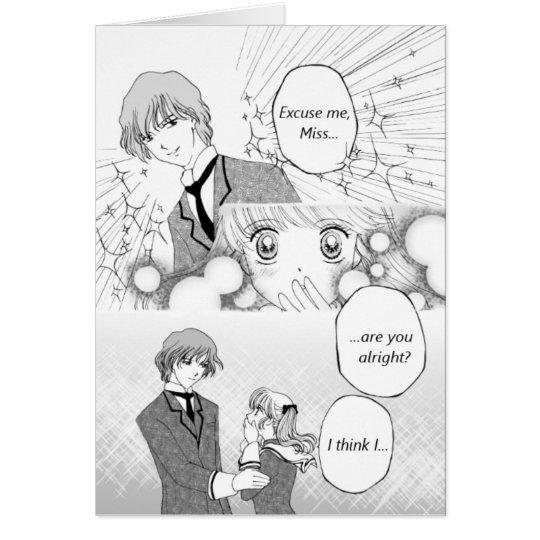 Greeting card for shoujo manga fan