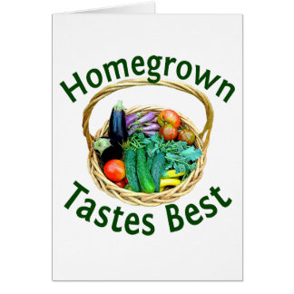 Greeting Card for Vegetable Gardeners & Foodies