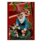 greeting card - garden gnome