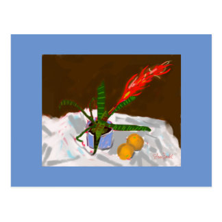Greeting card gift Still Life with Bromeliad