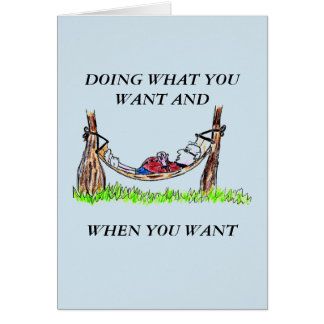 GREETING CARD - HAMMOCK AND HAPPY RETIREMENT