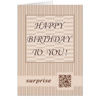 Greeting Card.Happy Birthday Andrew! Card