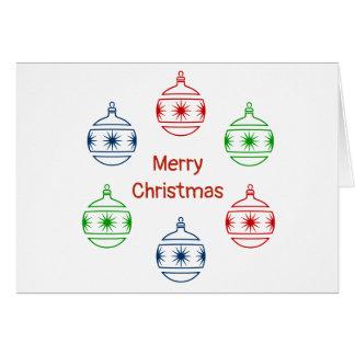 Greeting Card - Holiday Ornaments