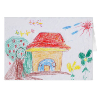 "GREETING CARD: ""Home"" by Ya Hieu (2nd grade) Card"