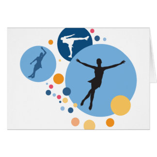 Greeting Card - Ice Skate Circles