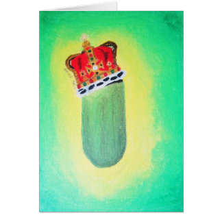 "Greeting Card ""King-Size Dill Pickle"" Amber Larsen"