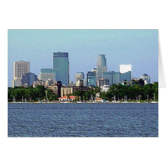 Greeting Card: Lake Calhoun - Minneapolis, MN Card