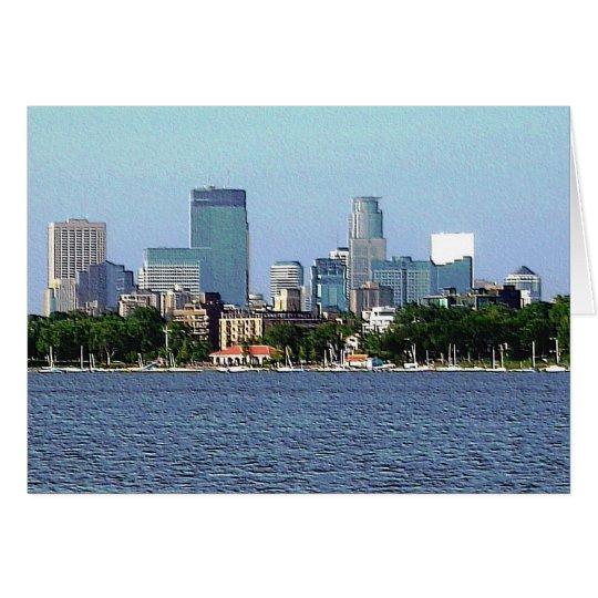 Greeting Card: Lake Calhoun - Minneapolis, MN Card