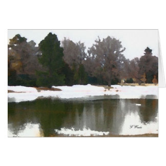 Greeting Card, Lake Reflections - all occasion Greeting Card