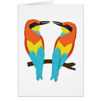 Greeting Card LOVE BIRDS