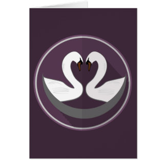 Greeting Card - LOVE SWANS