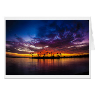 Greeting Card - Mission Bay Rainbow Sunset