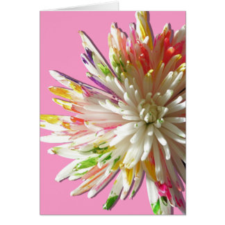 Greeting Card - Painted White Spider Mum