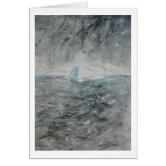 "Greeting Card - Painting ""Iceberg"""