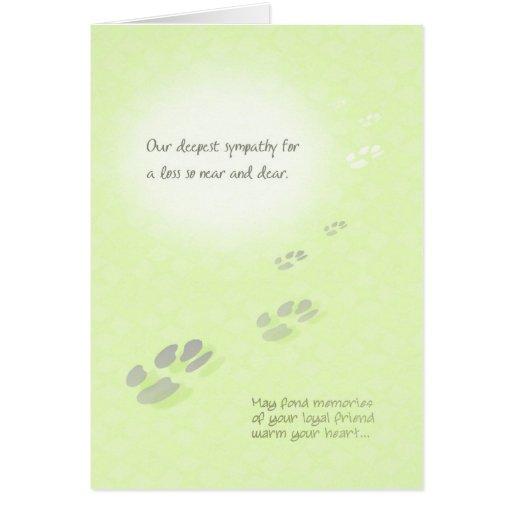 Greeting Card - Pet Loss
