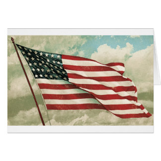 Greeting card Reproduction Vintage American Flag