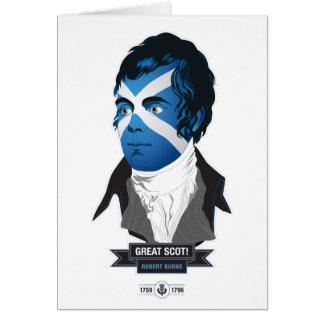 Greeting Card. Robert Burns, a Great Scot! Card
