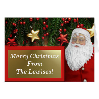 Greeting Card - Signs Of The Season - Red