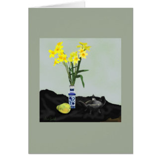 Greeting card Still Life with Daffodils