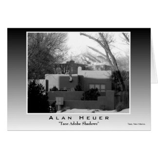 "Greeting Card - ""Taos Adobe Shadows"""