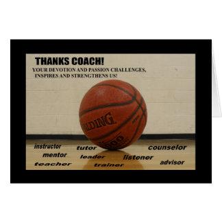 "Greeting Card ""Thank You-COACH"" 5x7 w/plain wht en"
