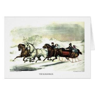 Greeting Card - The Sleigh Race