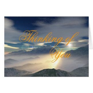 Greeting Card: Thinking of You (Blank) Card