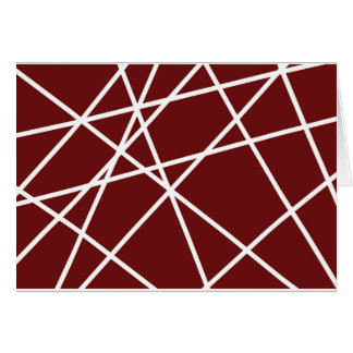 Greeting Card WHITE ABSTRACT LINES