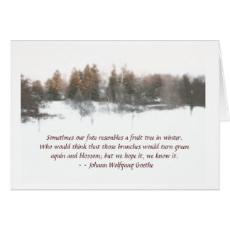 greeting card, winter scene, message of hope card