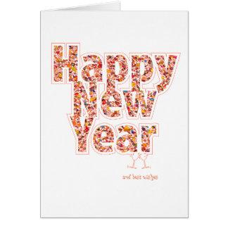 Greeting card, wish card, happy New Year, 2017 Card