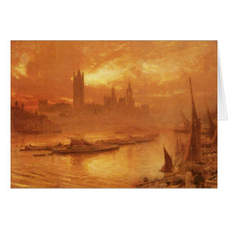 Greeting Card With Albert Goodwin Painting
