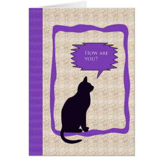 Greeting Card with Cat Design - How are you?