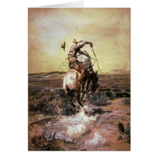 Greeting Card With Charles M. Russell Painting