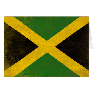 Greeting Card with Dirty Flag from Jamaica