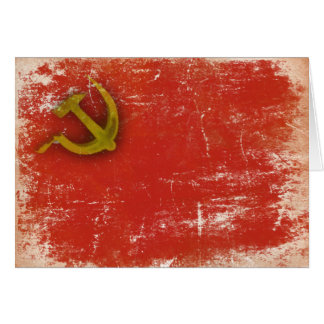 Greeting Card with Dirty Old Soviet Union Flag