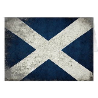 Greeting Card with Dirty Scottish Flag